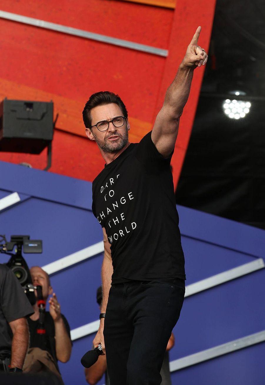 Hugh Jackmanlors du Global Citizen Festival à New York le 28 septembre 2019