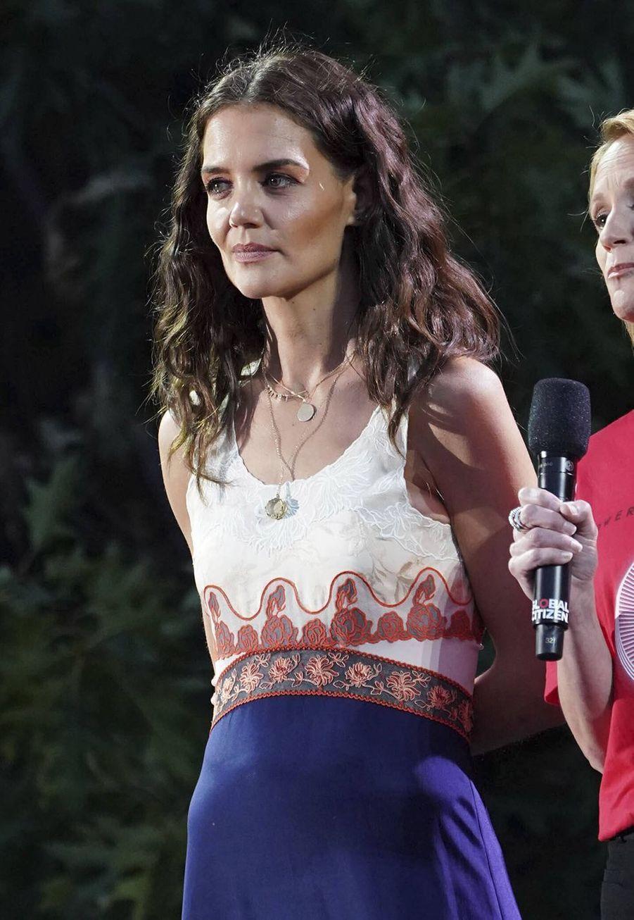 Katie Holmeslors du Global Citizen Festival à New York le 28 septembre 2019