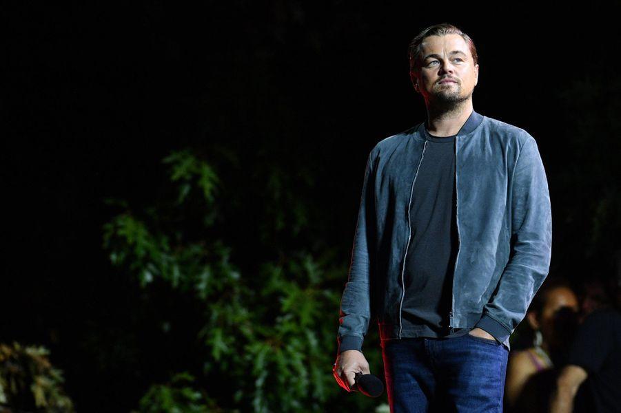 Leonardo DiCaprio lors du Global Citizen Festival à New York le 28 septembre 2019