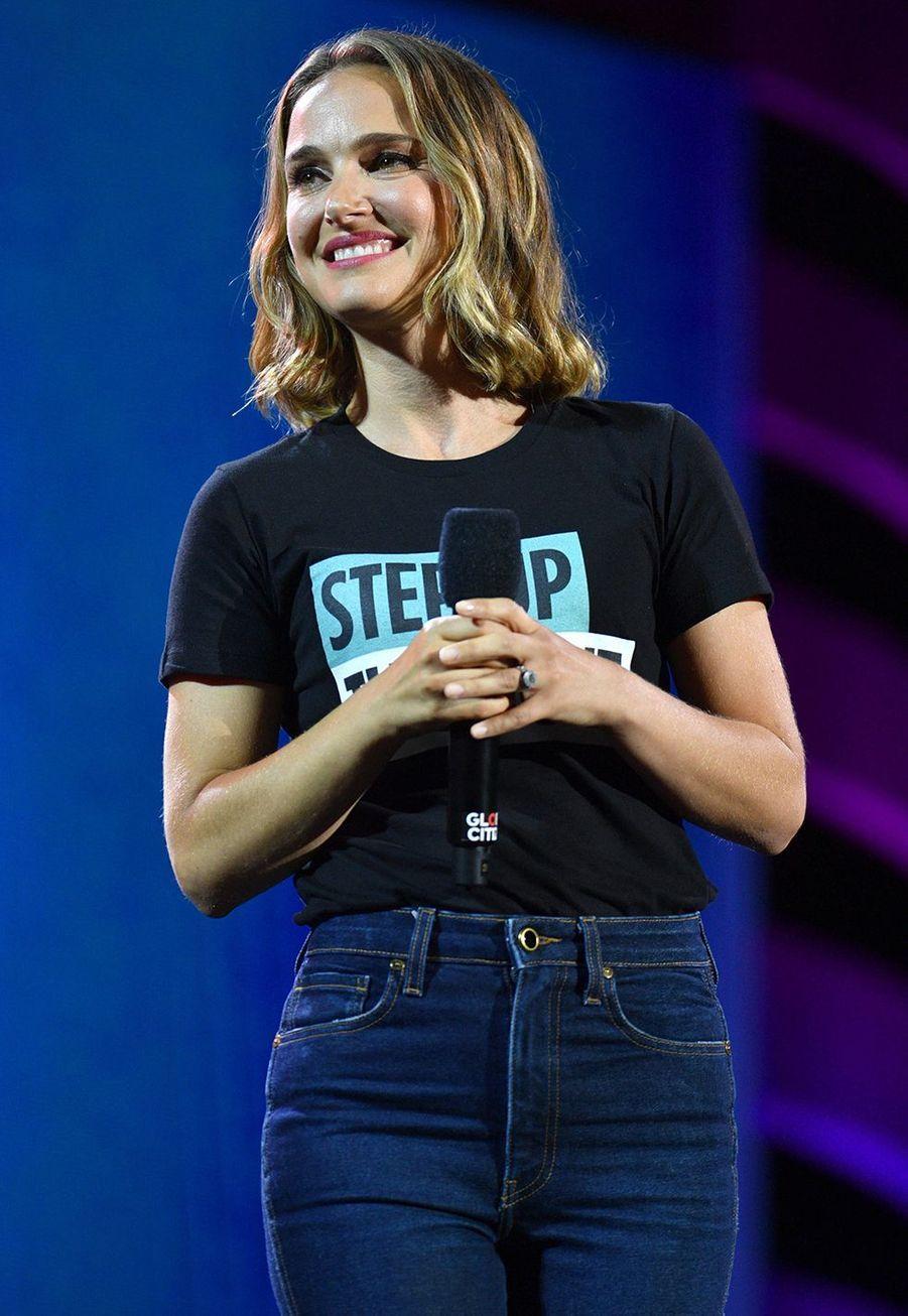 Natalie Portmanlors du Global Citizen Festival à New York le 28 septembre 2019
