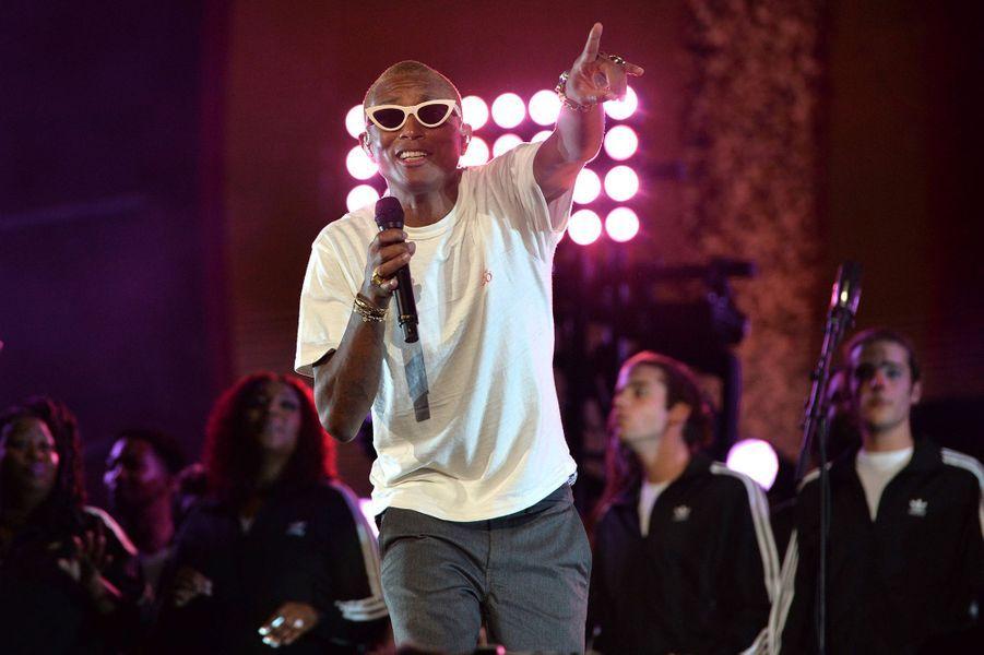 Pharrell Williamslors du Global Citizen Festival à New York le 28 septembre 2019