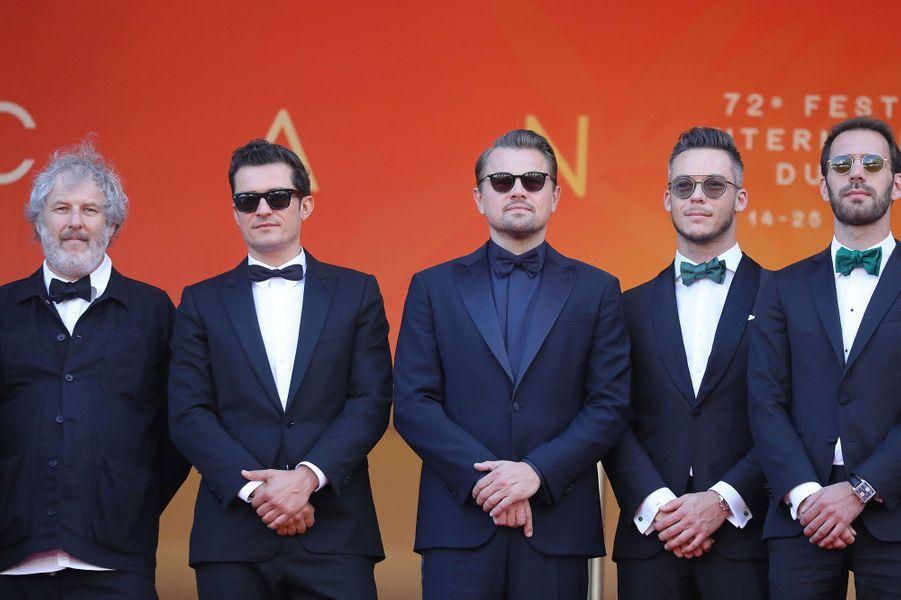 Le photographe Malcolm Venville, Orlando Bloom, Leonardo DiCaprio, les pilotes Andre Lotterer et Jean-Eric Vergne