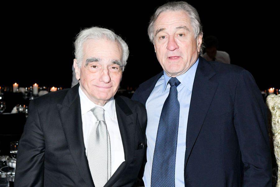 Martin Scorsese avec Robert De Niro au MoMA le 19 novembre 2018