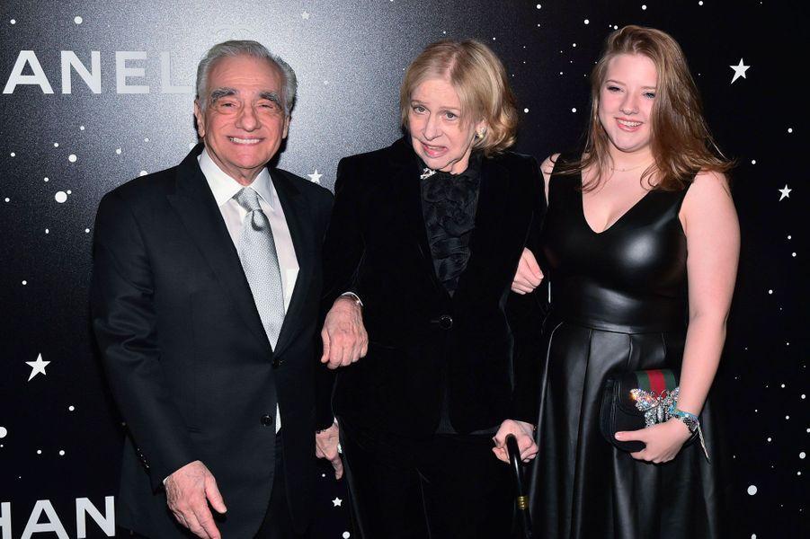 Martin Scorsese avec sa femme Helen Morris et sa fille Francesca au MoMA le 19 novembre 2018
