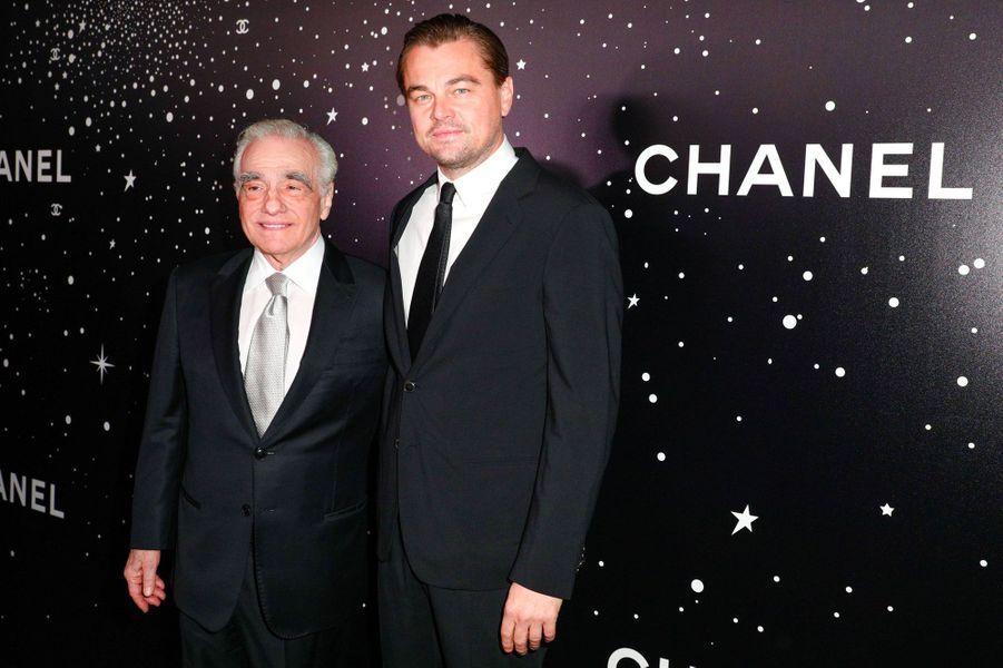 Martin Scorsese avec Leonardo DiCaprio au MoMA le 19 novembre 2018