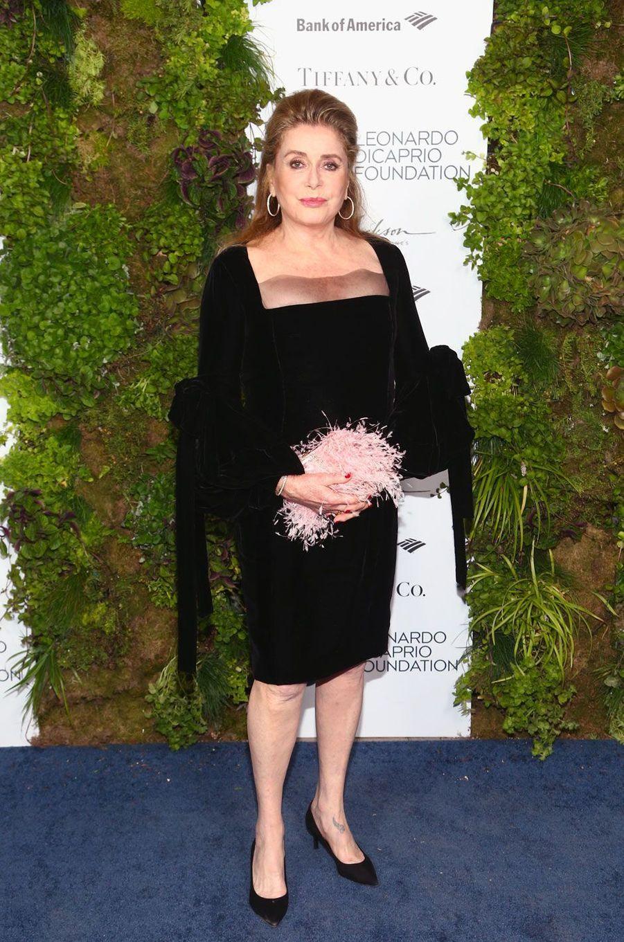 Catherine Deneuve au gala de la Leonardo DiCaprio Foundadtion, le 15 septembre 2018 à Santa Rosa