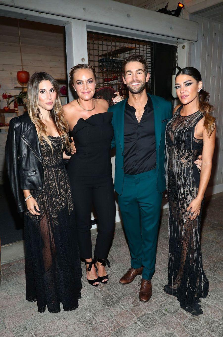Alisia Leibel, Nikki Erwin, Chace Crawford et Jessica Szohr au gala de la Leonardo DiCaprio Foundadtion, le 15 septembre 2018 à Santa Rosa