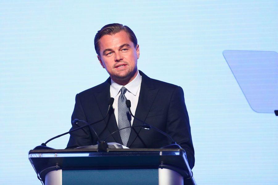 Leonardo DiCaprio au gala de la Leonardo DiCaprio Foundadtion, le 15 septembre 2018 à Santa Rosa