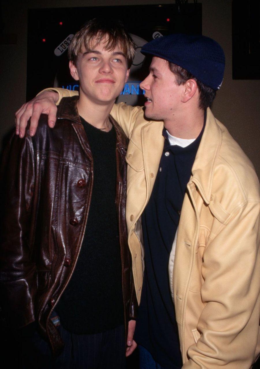 Leonardo DiCaprio et son ami Marc Wahlberg.