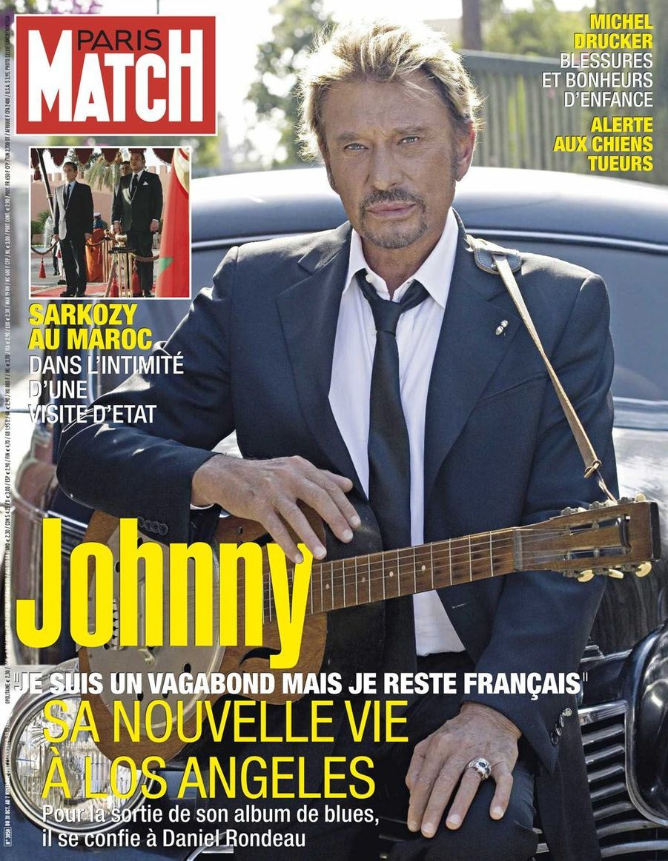 Johnny Hallyday en couverture de Paris Match en 2007