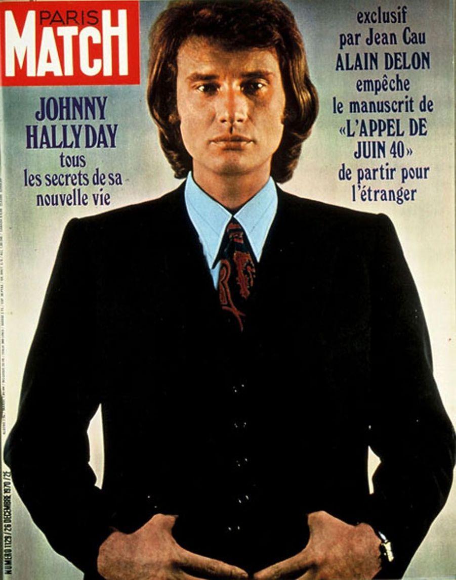 Johnny Hallyday en couverture de Paris Match en 1970