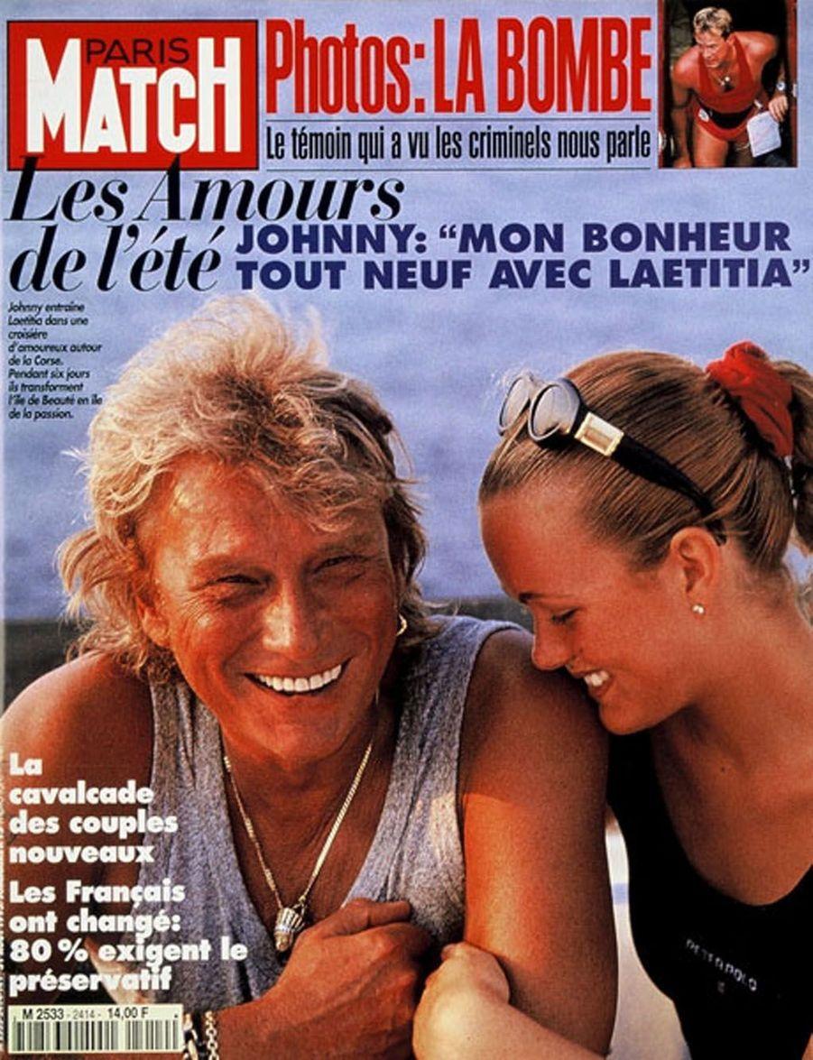 Johnny Hallyday et Laeticia en couverture de Paris Match