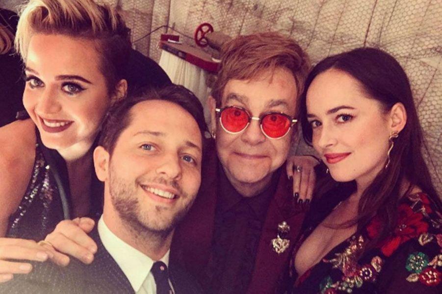 Katy Perry, Elton John et Dakota Johnson