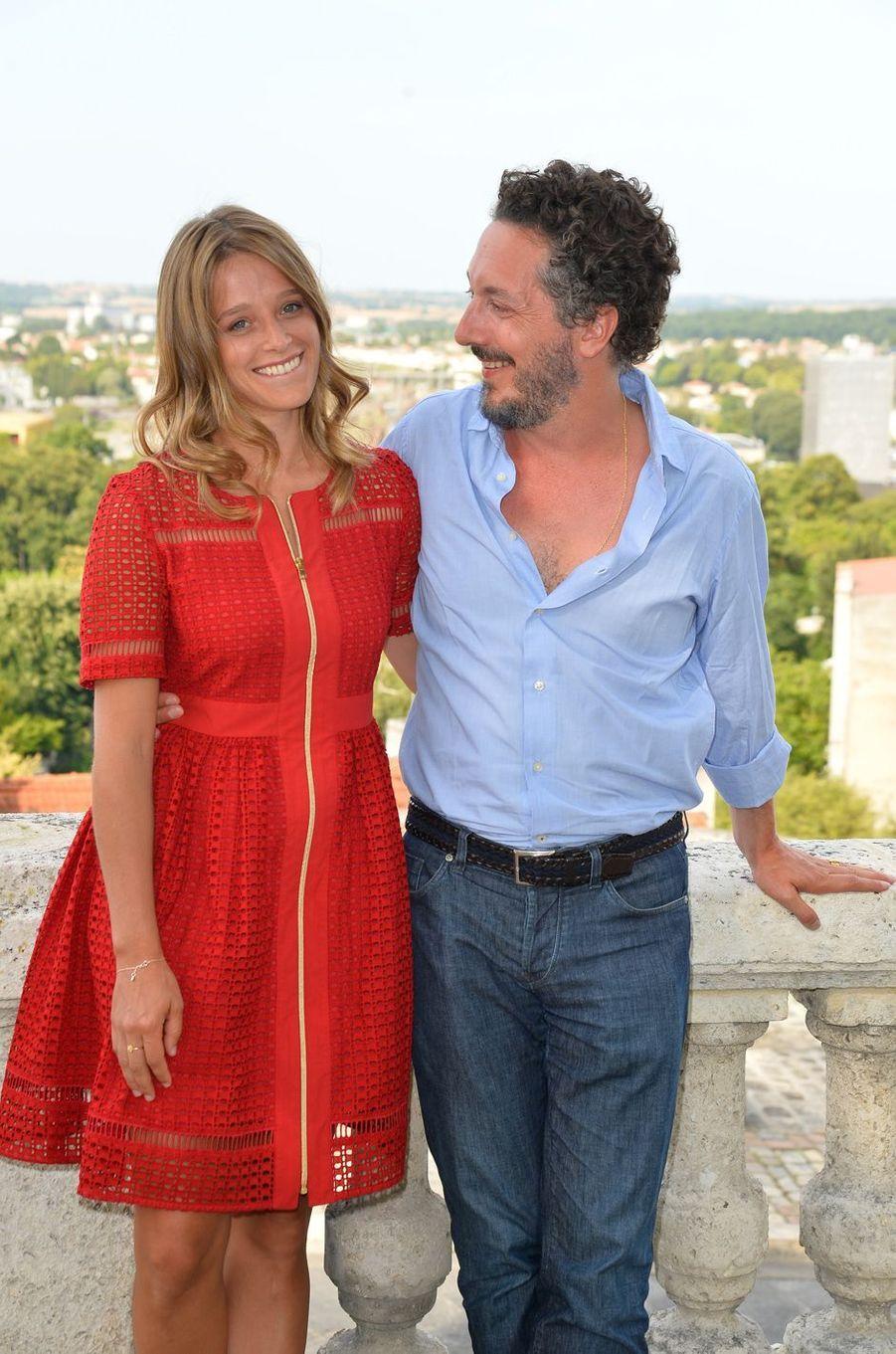 Guillaume Gallienne et Adeline d'Hermyau festival du film francophone d'Angoulême, le 24 août 2017.