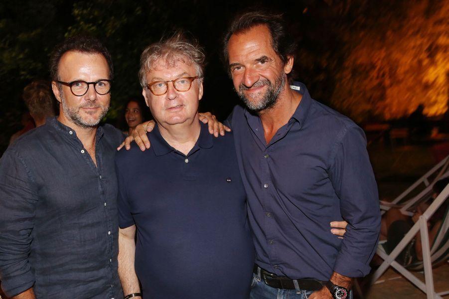 Pierre-François Martin-Laval, Dominique Besnehard et Stéphane De Groodtau festival du film francophone d'Angoulême, le 24 août 2017.