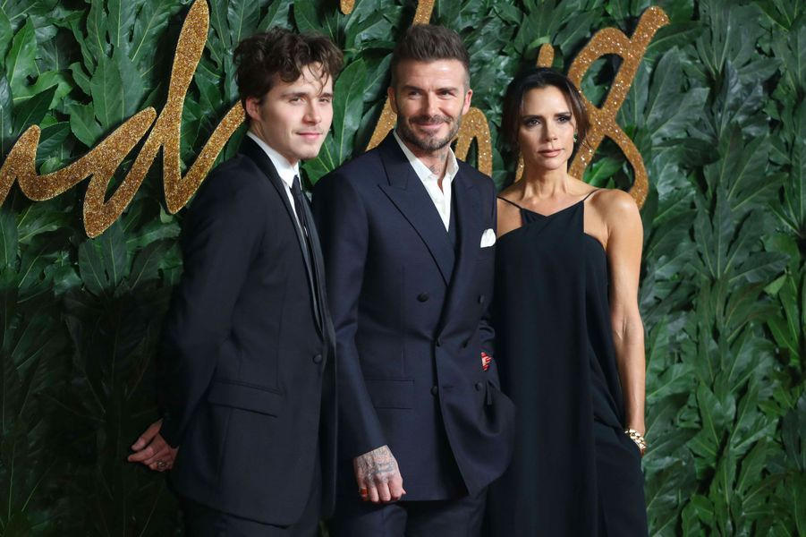 Brooklyn, David et Victoria Beckham