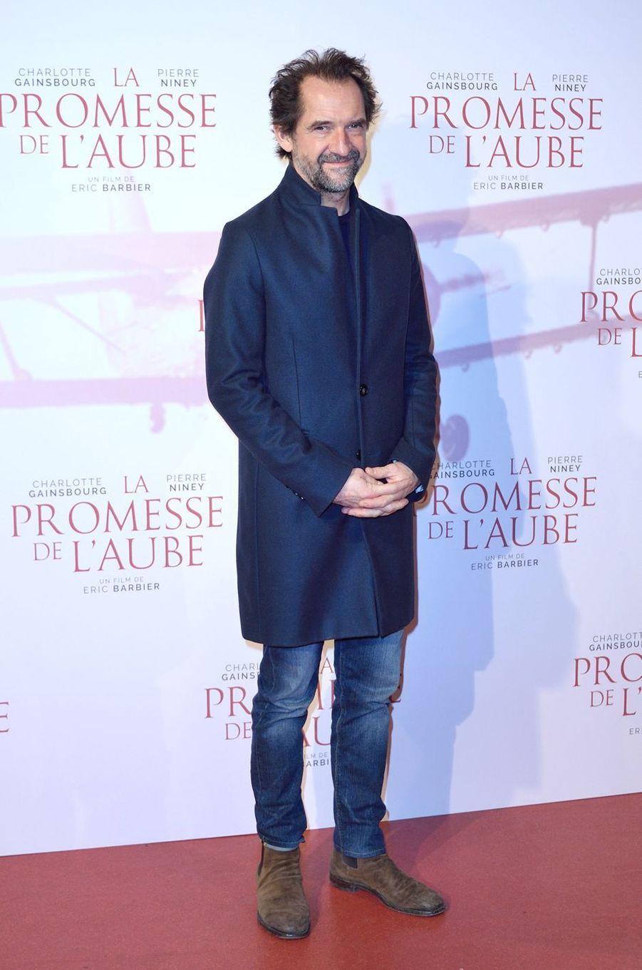 """Stéphane de Groodtà l'avant-première de """"La promesse de l'Aube"""", le 12 décembre 2017 à Paris."""