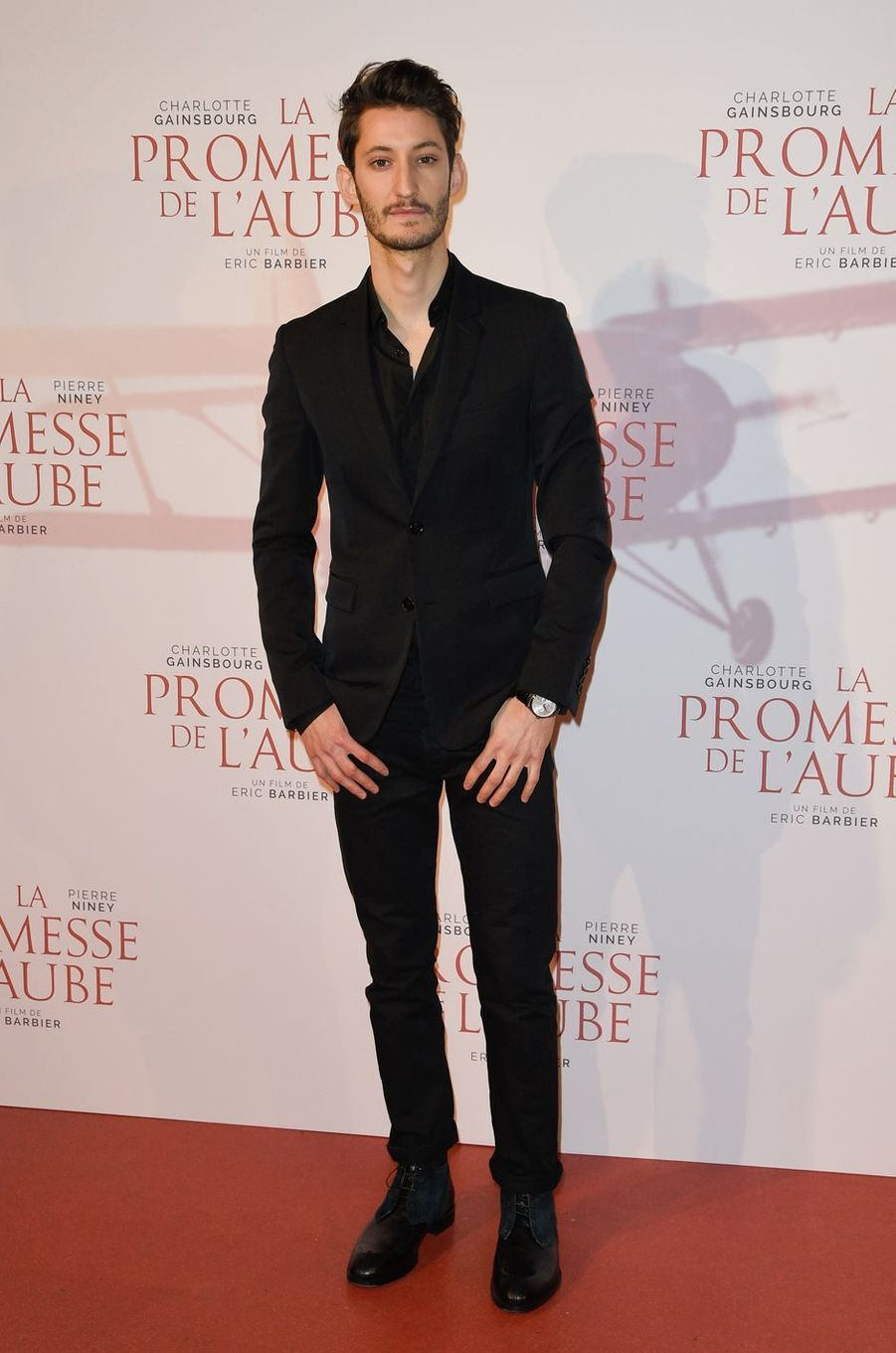 """Pierre Nineyà l'avant-première de """"La promesse de l'Aube"""", le 12 décembre 2017 à Paris."""