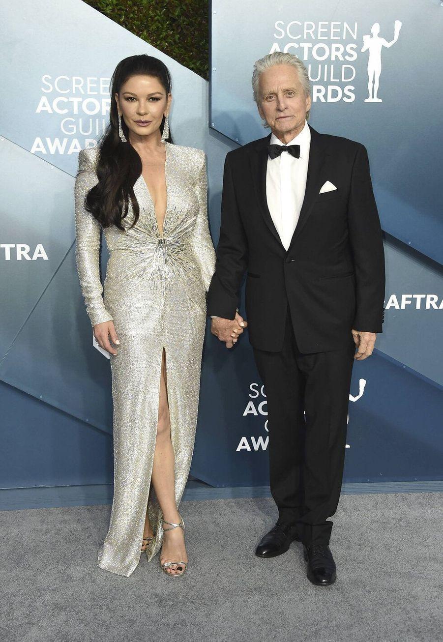 Catherine Zeta-Jones et Michael Douglas, mariés depuis 2000, ont 25 ans de différence d'âge.