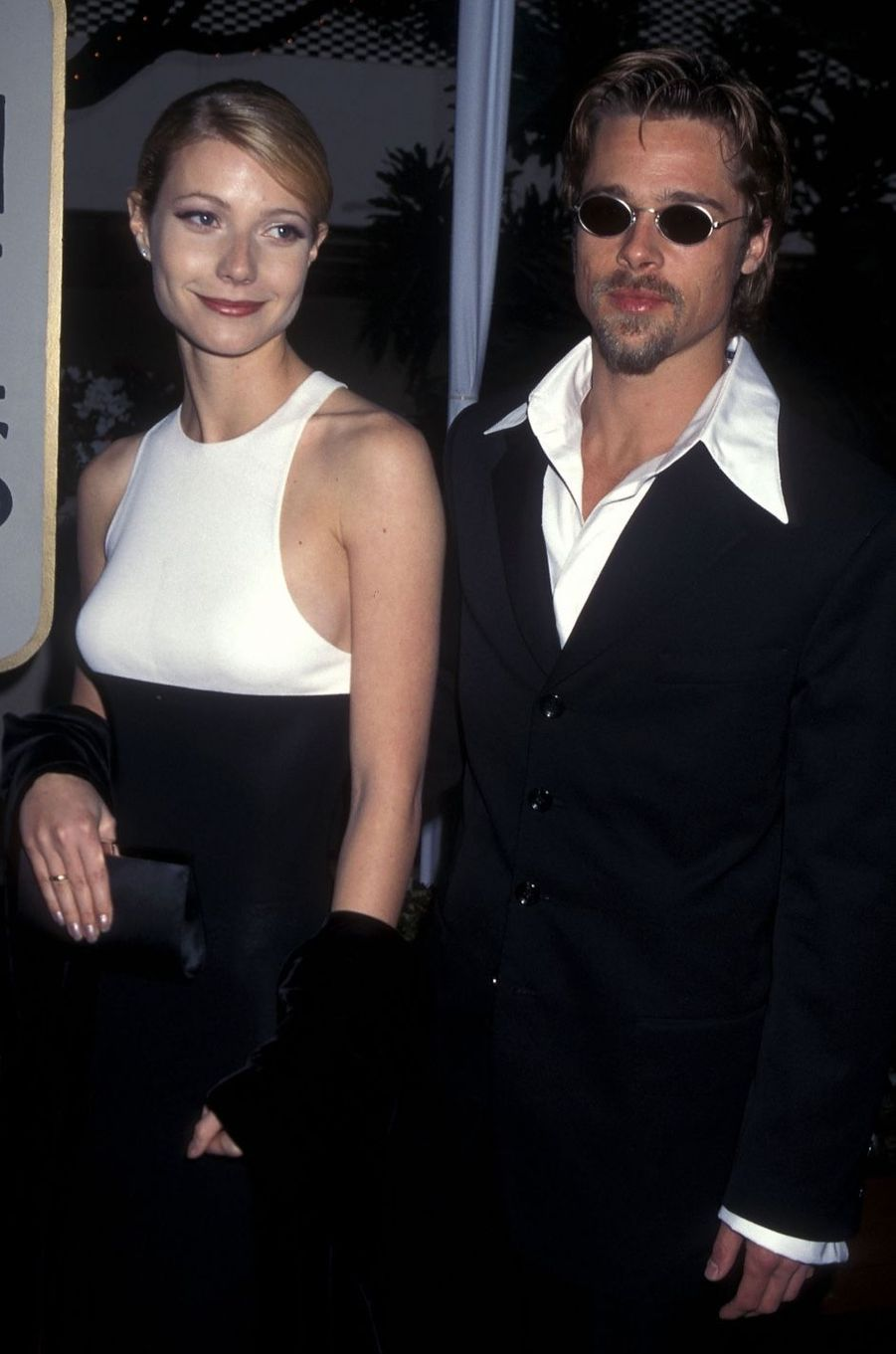 Brad Pitt et Gwyneth Paltrow en 1996. Leur relation s'est terminée en 1997 après trois années.