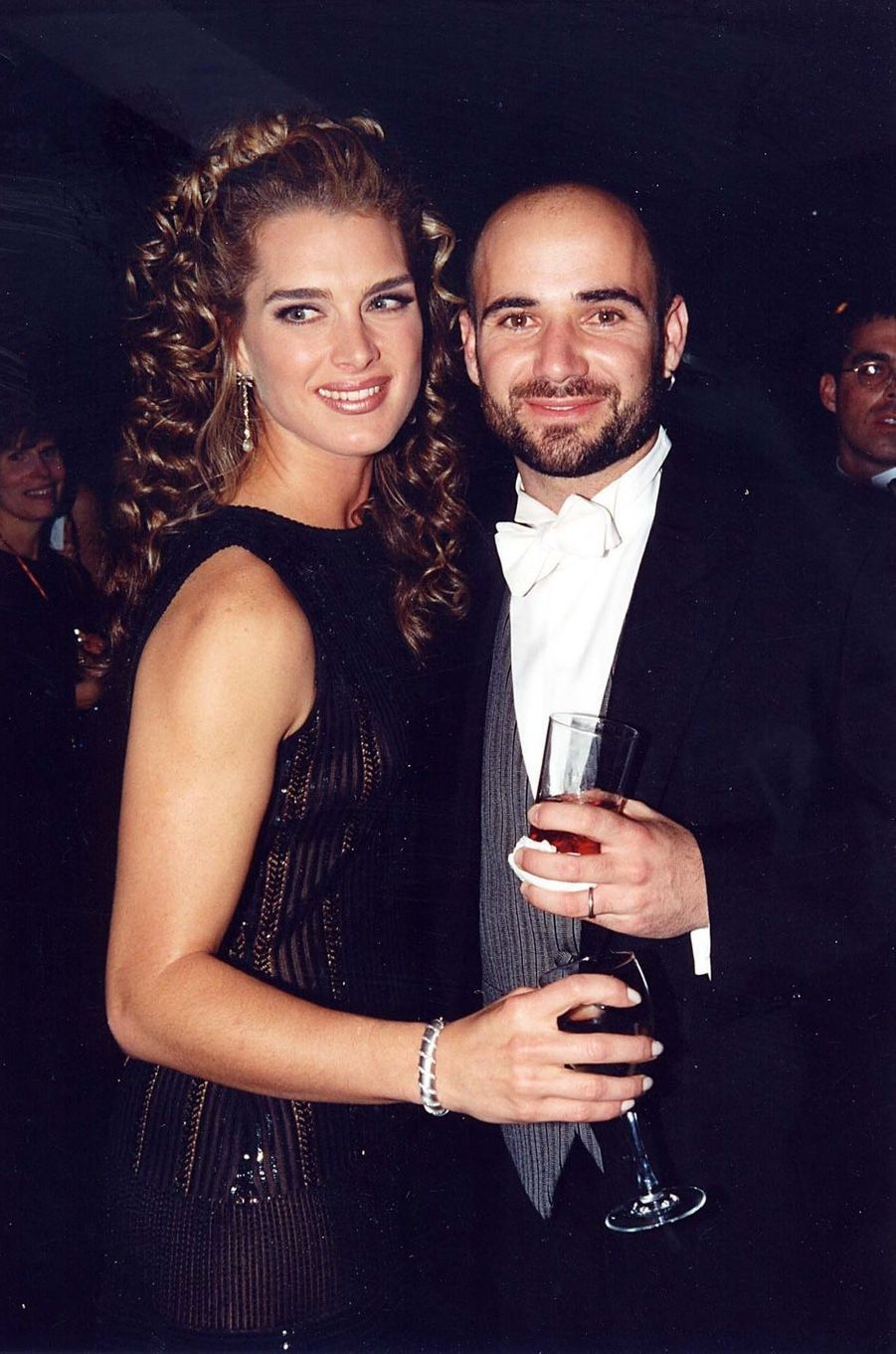 Brooke Shields et Andre Agassi en 1997. Leur relation a duré de 1995 à 1999.