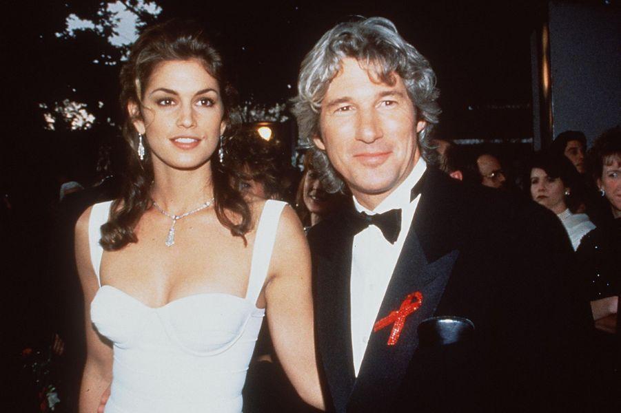 Cindy Crawford et Richard Gere en 1993. Le couple a divorcé en 1994 après trois ans de mariage.