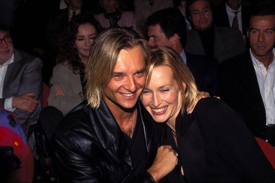 David Hallyday et Estelle Lefébure en 1996. Ils ont été mariés de 1989 à 2001.