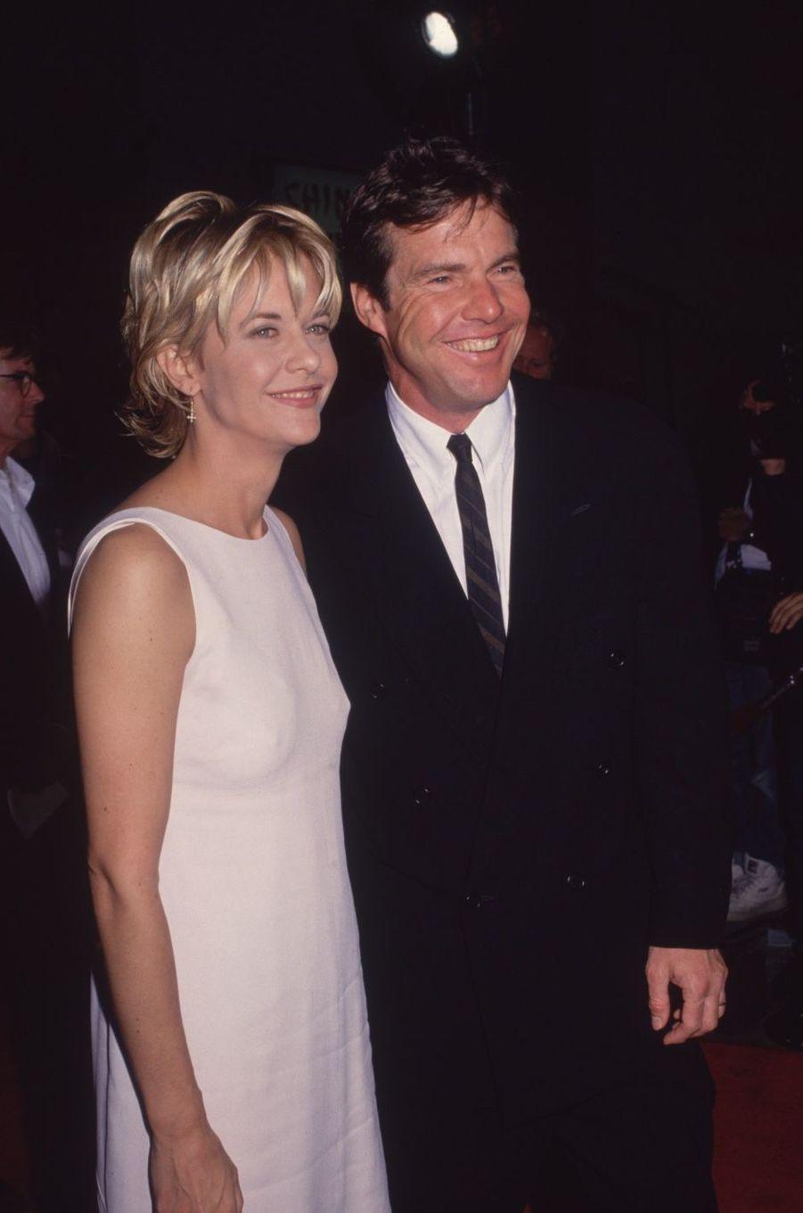 Dennis Quaid et Meg Ryan en 1995. Ils ont été mariés de 1991 à 2001.