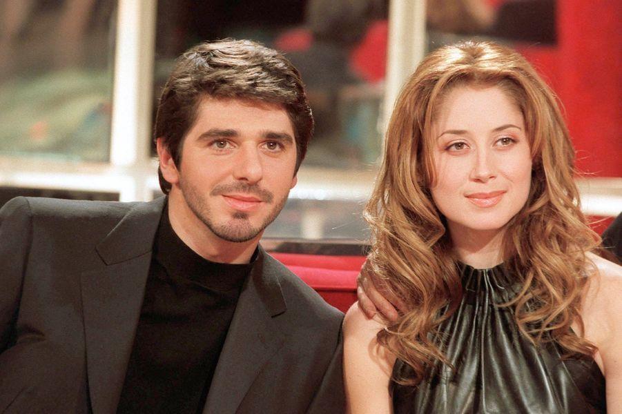 Lara Fabian et Patrick Fiori en 1999. Ils ont eu une courte relation de 1998 à 1999.