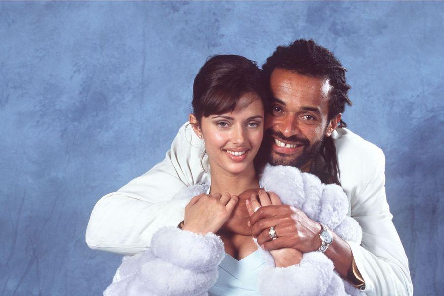 Yannick Noah et Heather Stewart Whyte en 1995. Ils étaient mariés de 1995 à 1999.