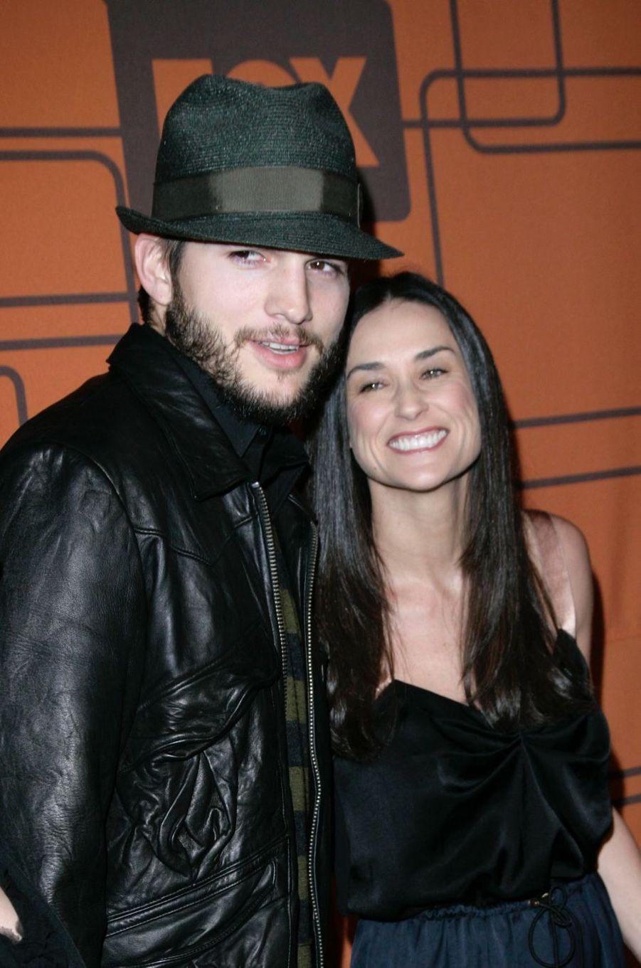 Ashton Kutcher et Demi Moore en 2006. Ils ont été mariés de 2003 à 2013.