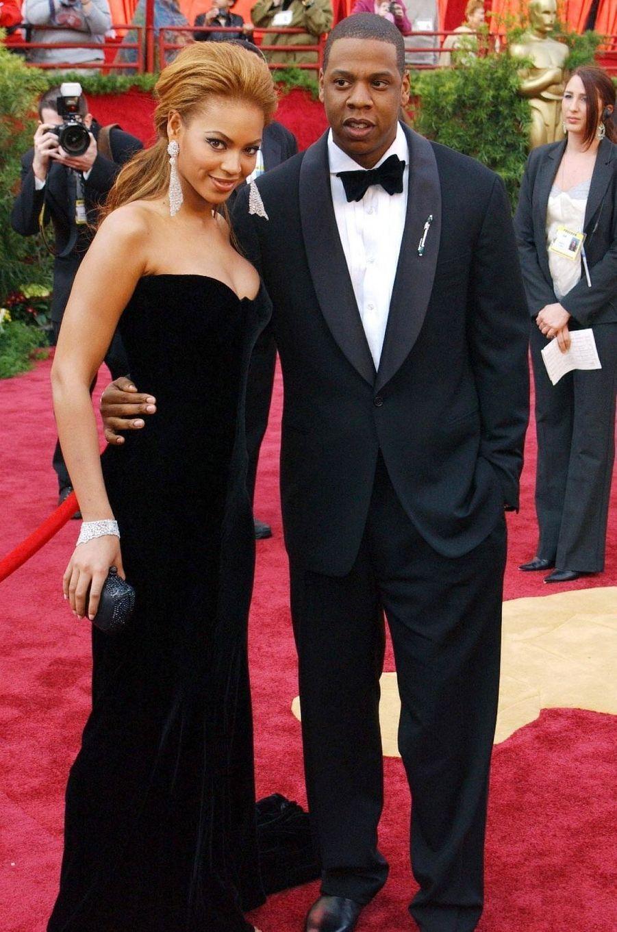 Beyoncé et Jay-Z en 2008. Ils sont en couple depuis 2002 et ont eu trois enfants, Blue Ivy, Rumi et Sir.