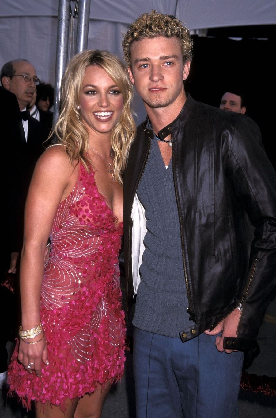 Britney Spears et Justin Timberlake en 2002. Ils ont officialisé leur relation en 1999 et ont rompu en 2002.