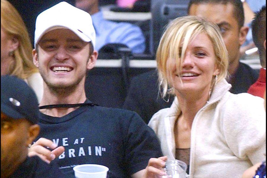 Cameron Diaz et Justin Timberlake en 2003. Leur couple a duré de 2003 à 2007.