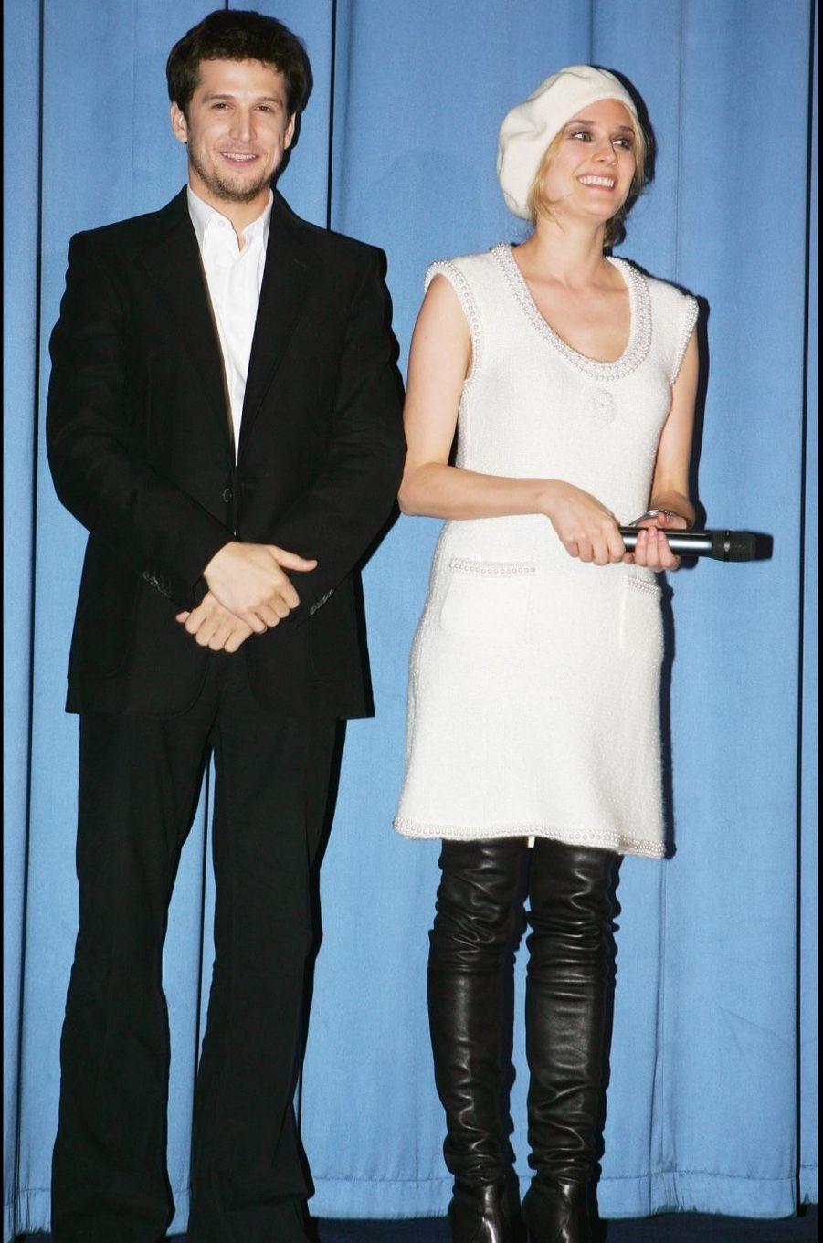 Diane Kruger et Guillaume Canet en 2005. Leur relation s'est terminée en 2006 après cinq ans de mariage.