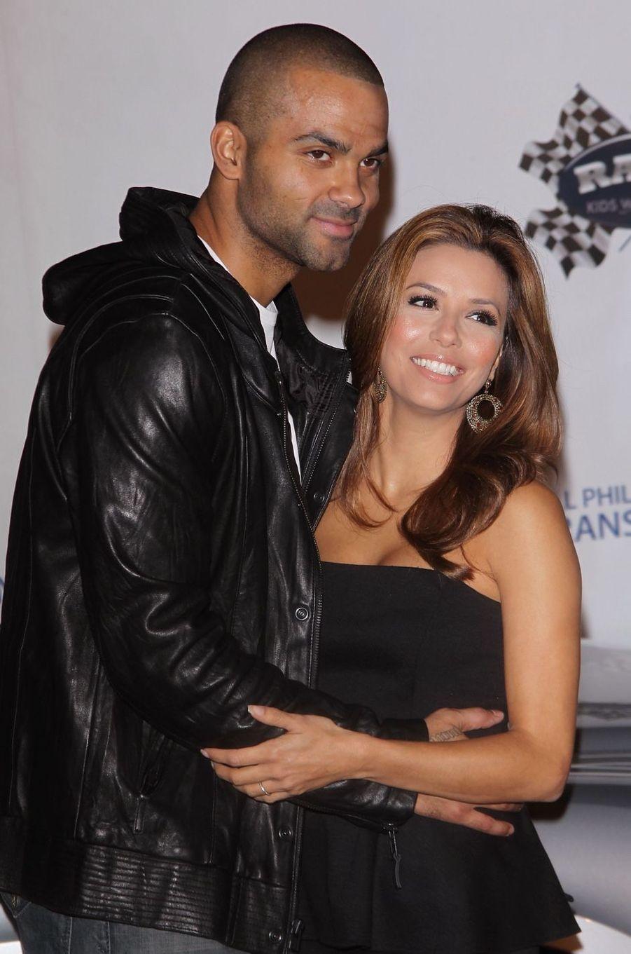 Eva Longoria et Tony Parker en 2010. Ils ont été mariés de 2007 à 2011.