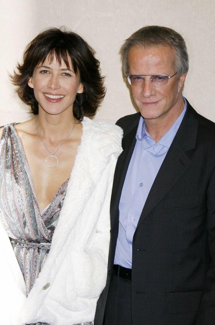 Sophie Marceau et Christophe Lambert en 2009. Leur couple a duré sept ans, de 2007 à 2014.