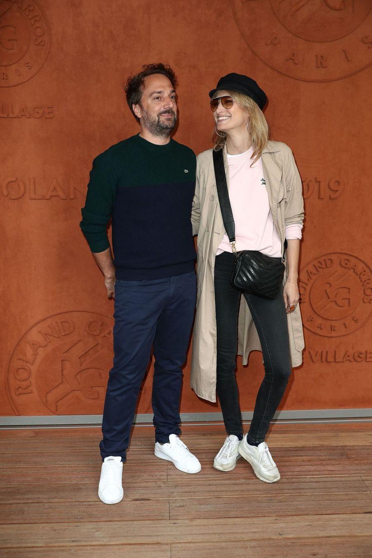 Julien Ansault et Pauline Lefèvreà Roland-Garros le 30 mai 2019