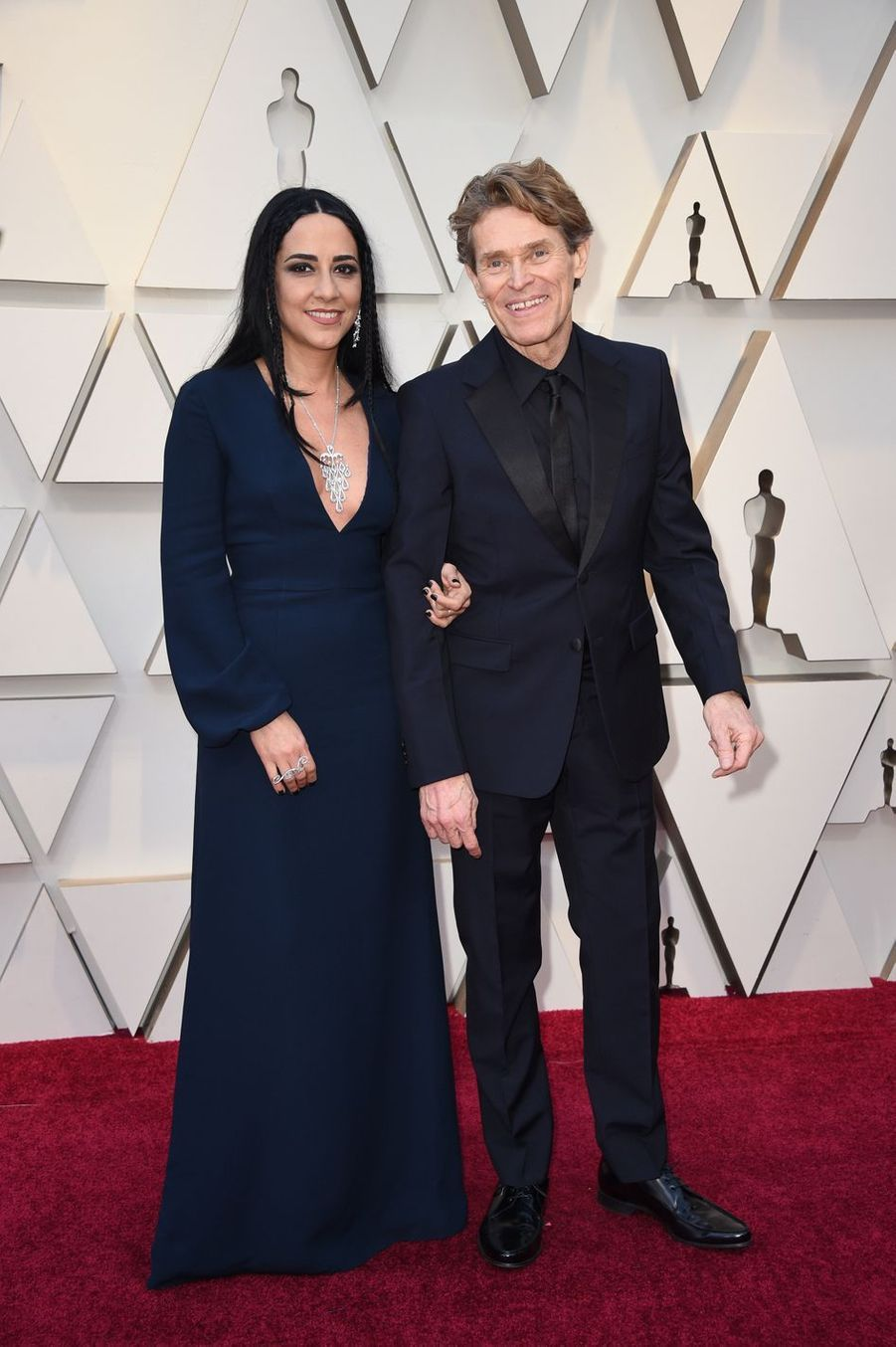 Willem Dafoe et Giada Colagrandesur le tapis rouge de la 91e cérémonie des Oscars le 24 février 2019