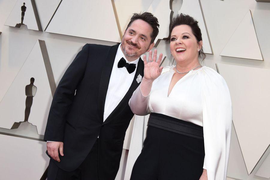 Melissa McCarthy et Ben Falconesur le tapis rouge de la 91e cérémonie des Oscars le 24 février 2019
