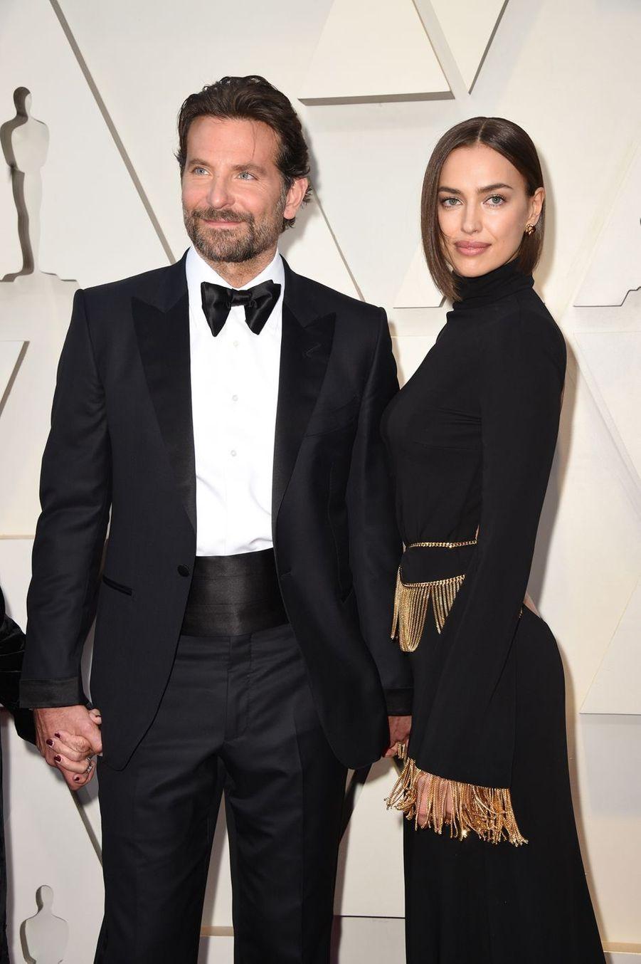 Bradley Cooper et Irina Shayk sur le tapis rouge de la 91e cérémonie des Oscars le 24 février 2019