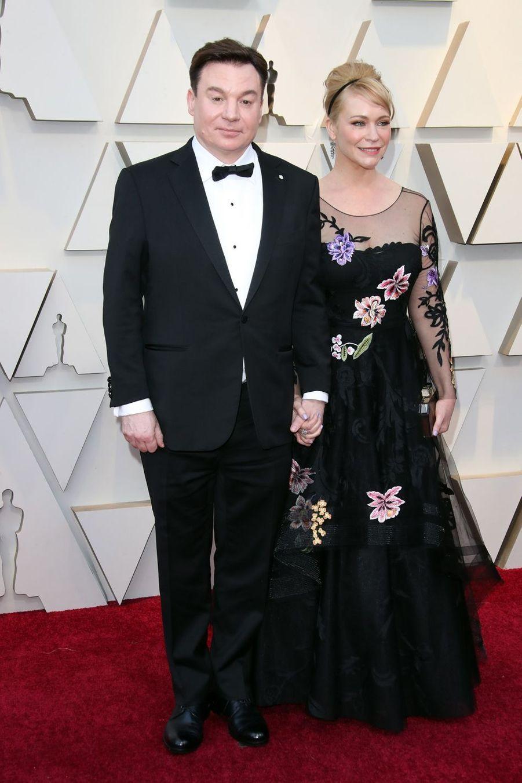 Mike Myers et Kelly Tisdalesur le tapis rouge de la 91e cérémonie des Oscars le 24 février 2019