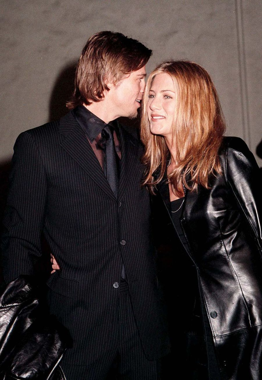 Brad Pitt et Jennifer Aniston à une soirée hollywoodienne en février 2000