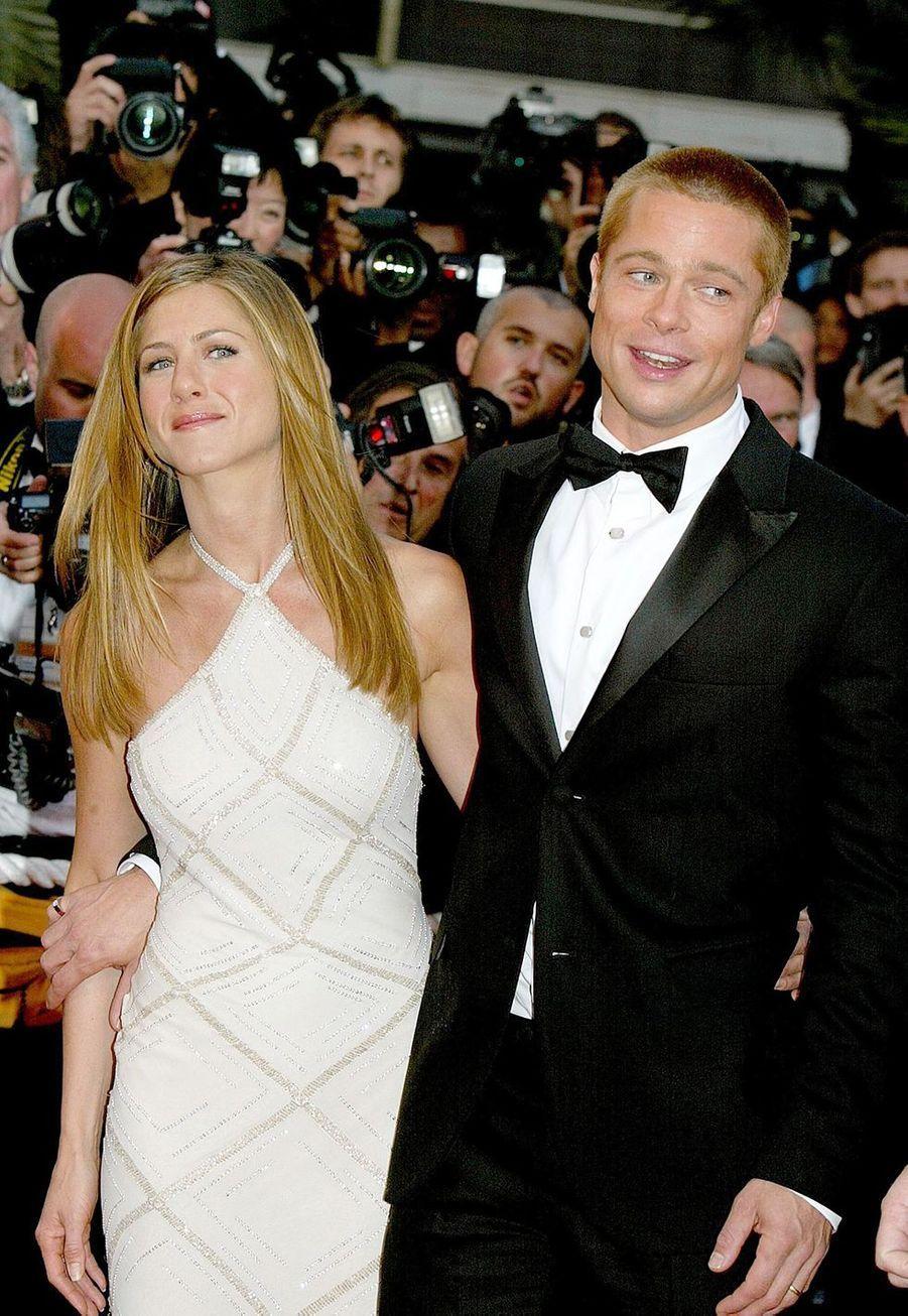 Jennifer Aniston et Brad Pitt au Festival de Cannes en mai 2004