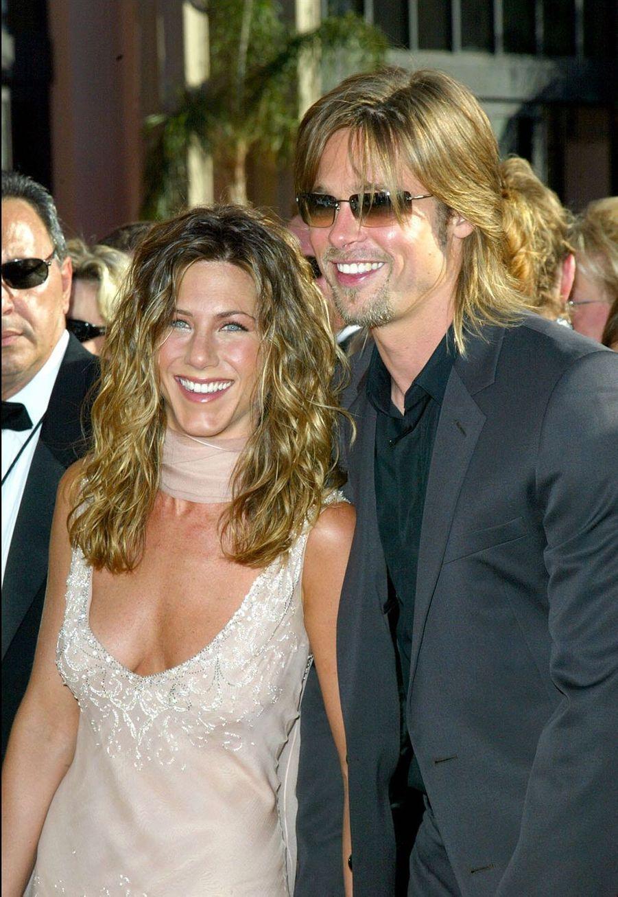 Jennifer Aniston et Brad Pitt aux Emmy Awards à Los Angeles en septembre 2005