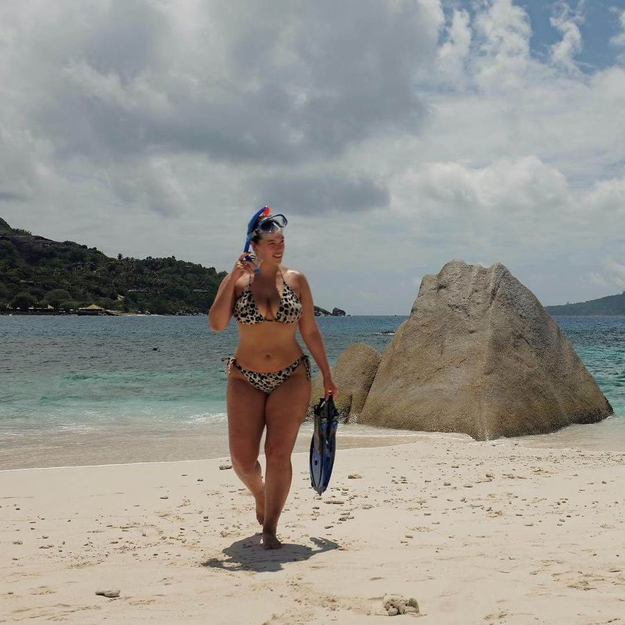 Ashley Graham aux Seychelles.