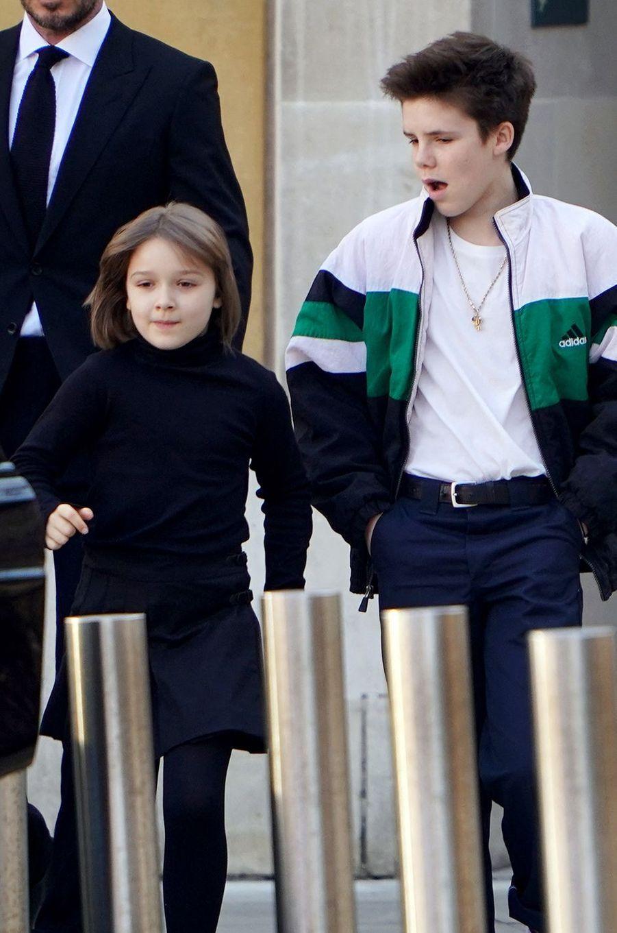 Harper et Cruz Beckham en février 2019