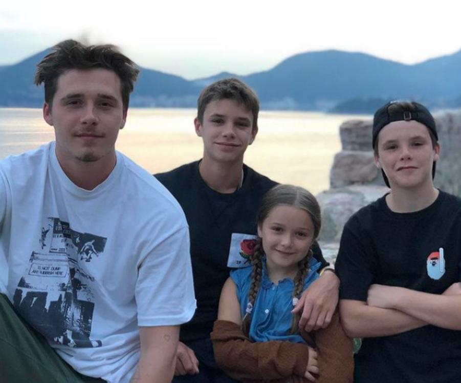 Brooklyn, Romeo, Harper et Cruz Beckham en juin 2020