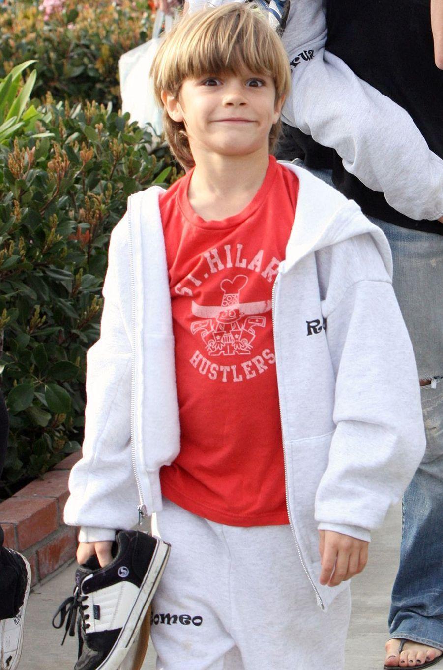 Romeo Beckham en janvier 2010