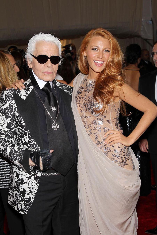 Avec Blake Lively en 2011